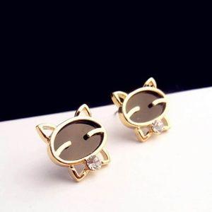 4/$25. New Cat Stud Earrings